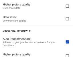 YouTube will allow you to specify video quality depending on the type of Internet connection