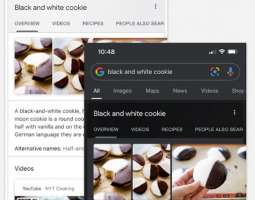Dark theme available in main Google app and in Google Assistant