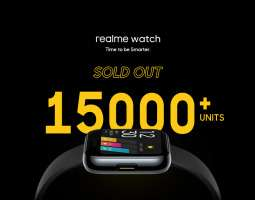Realme has sold over 15000 pieces of its smartwatch in two minutes