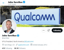 Juho Sarvikas joined Qualcomm