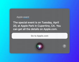 Siri announced when the next Apple's conference will take place