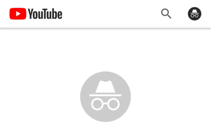 YouTube is testing incognito mode