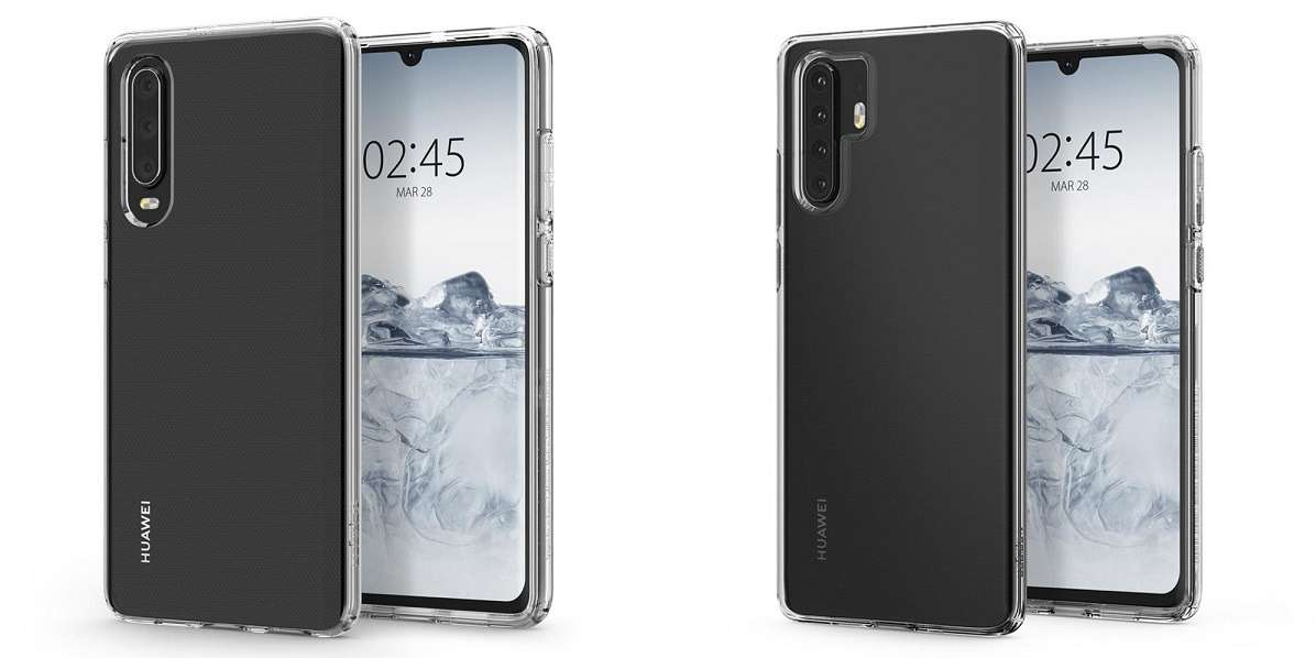Spigen accidentally revealed physical look of Huawei P30 and P30 Pro