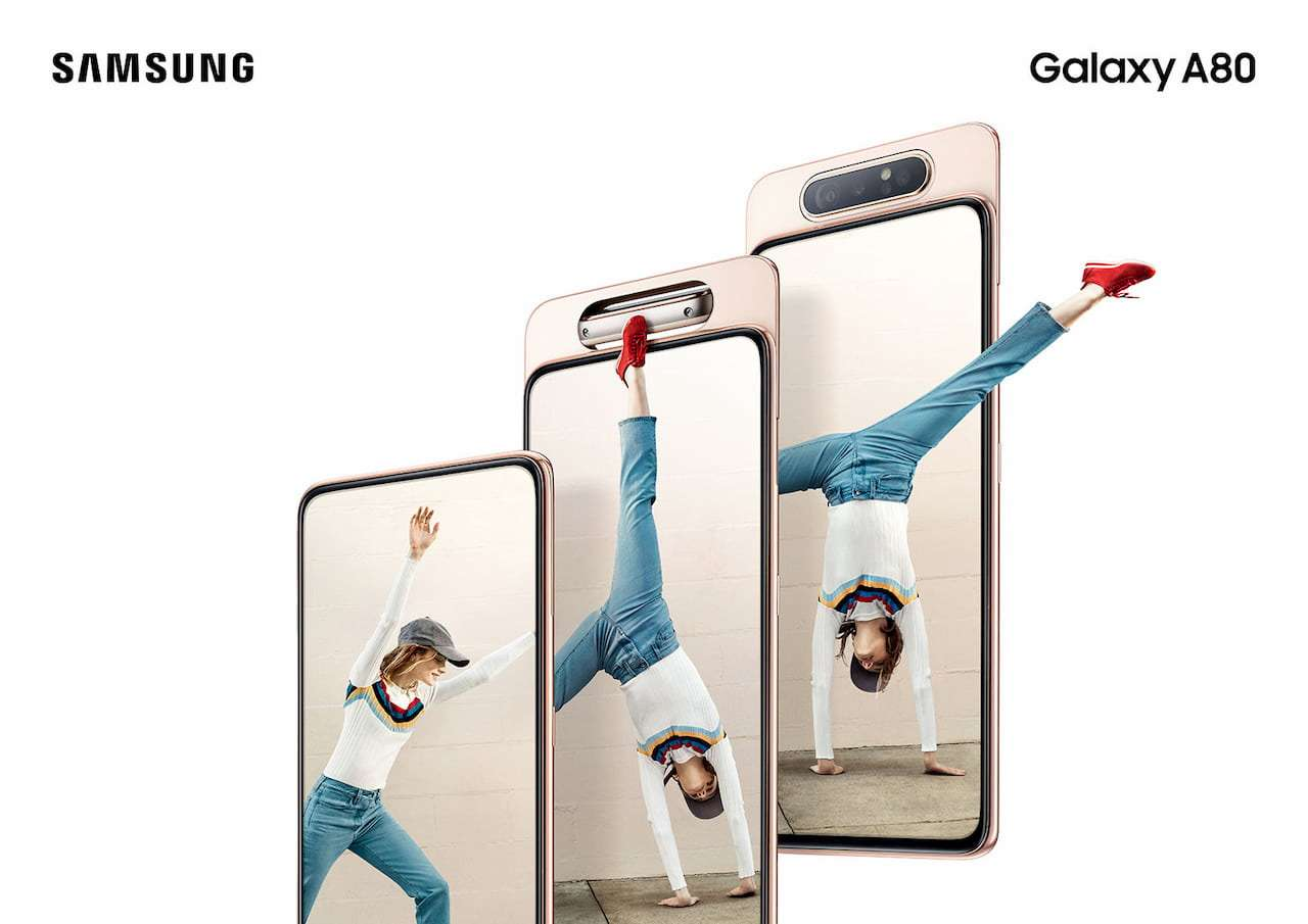 Samsung officially presented Galaxy A80 with rotate camera