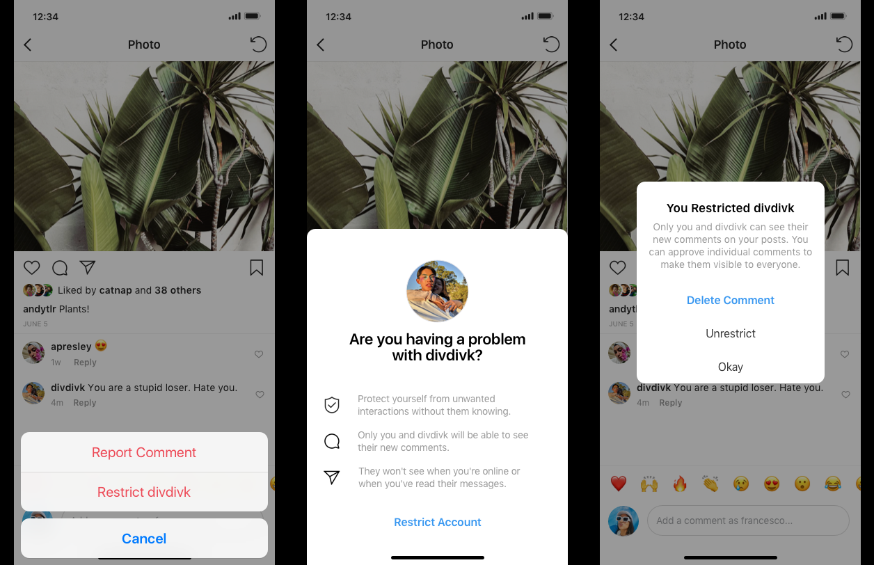 Instagram introduces features to prevent offensive comments