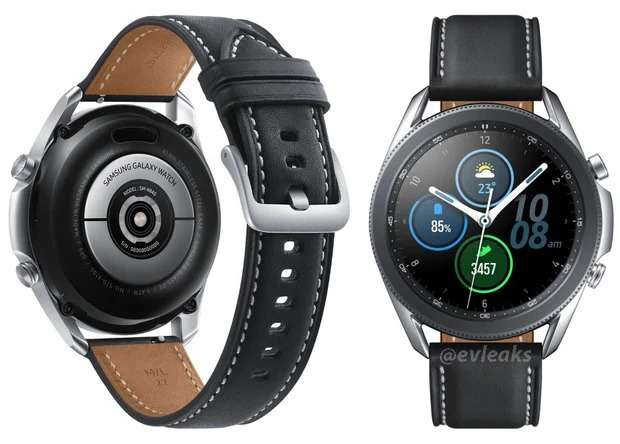 Design of Samsung Galaxy Watch 3 published on the Internet