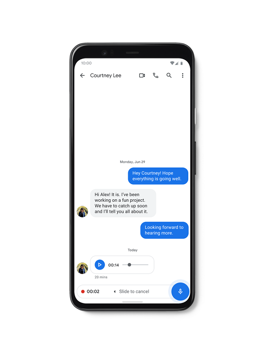 Messages app developed by Google has received new features