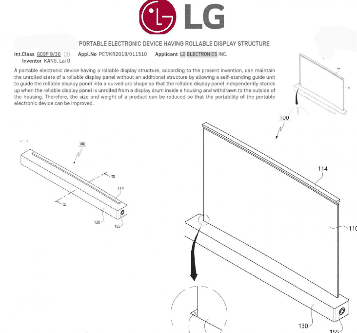 LG has patented a laptop with rollable screen