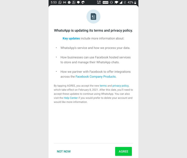 WhatsApp introduces new privacy policy